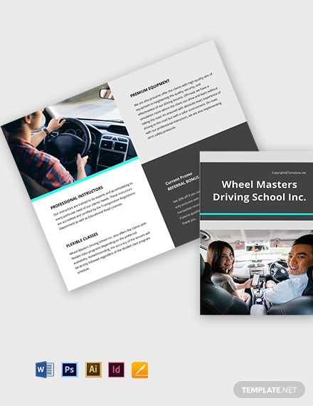 Modern Bifold School Brochure Template