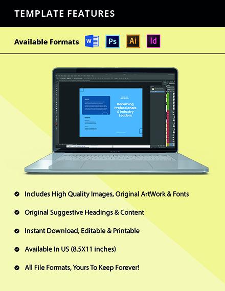 Free Elegant Bifold School Brochure Template Format