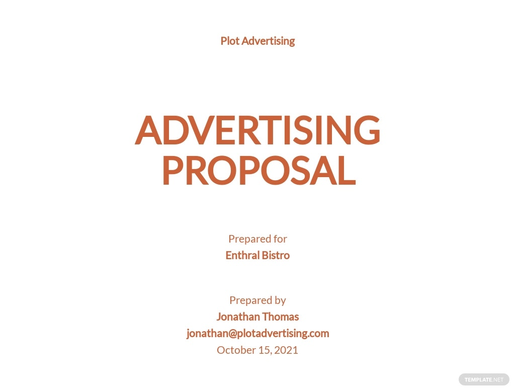 Simple Advertising Agency Proposal Template