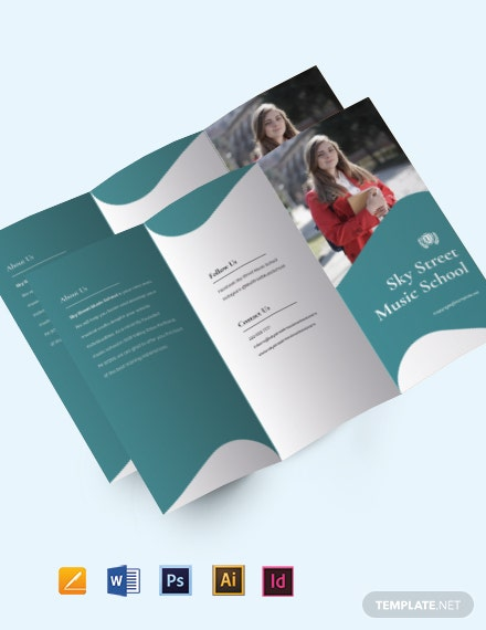 Free Tri-fold Creative School Brochure Template