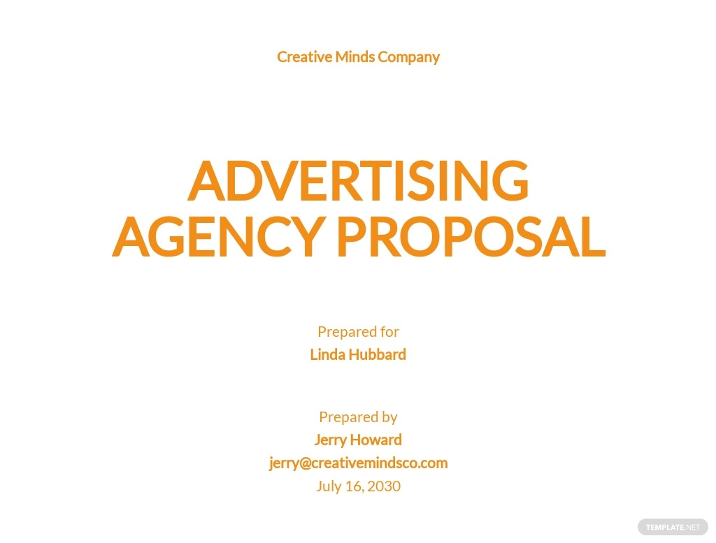 Sample Advertising Agency Proposal Template