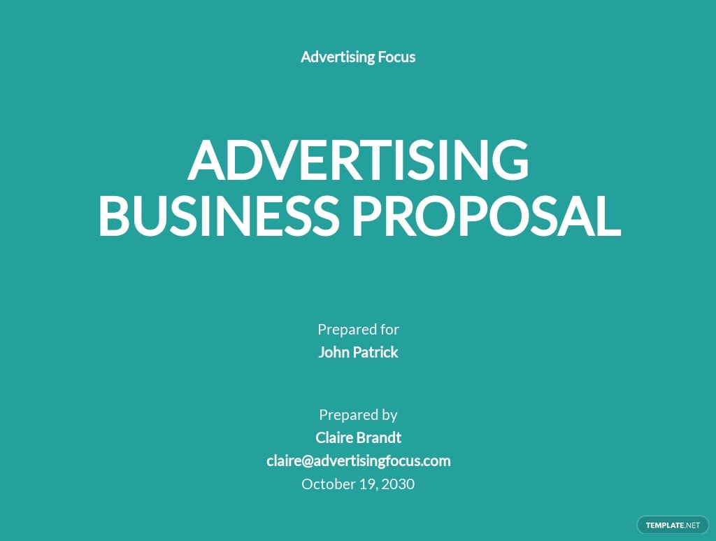 Advertising Agency Business Proposal Template