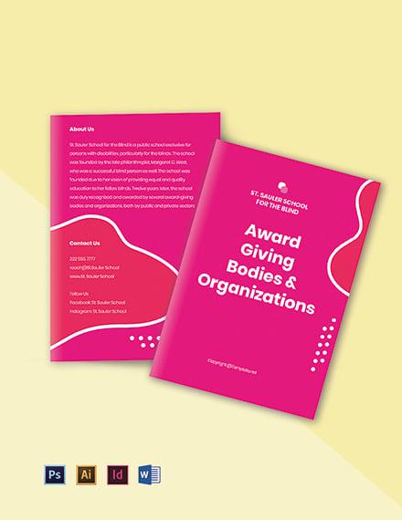Free Bifold Creative School Brochure Template