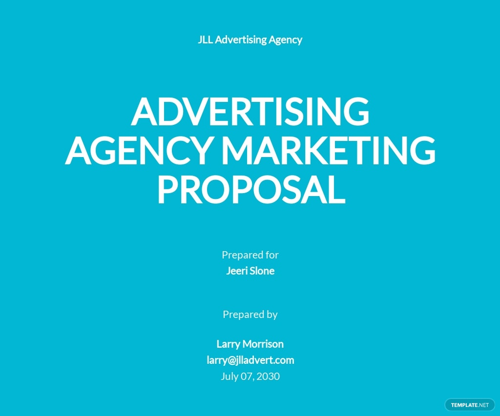Advertising Agency Marketing Proposal Template