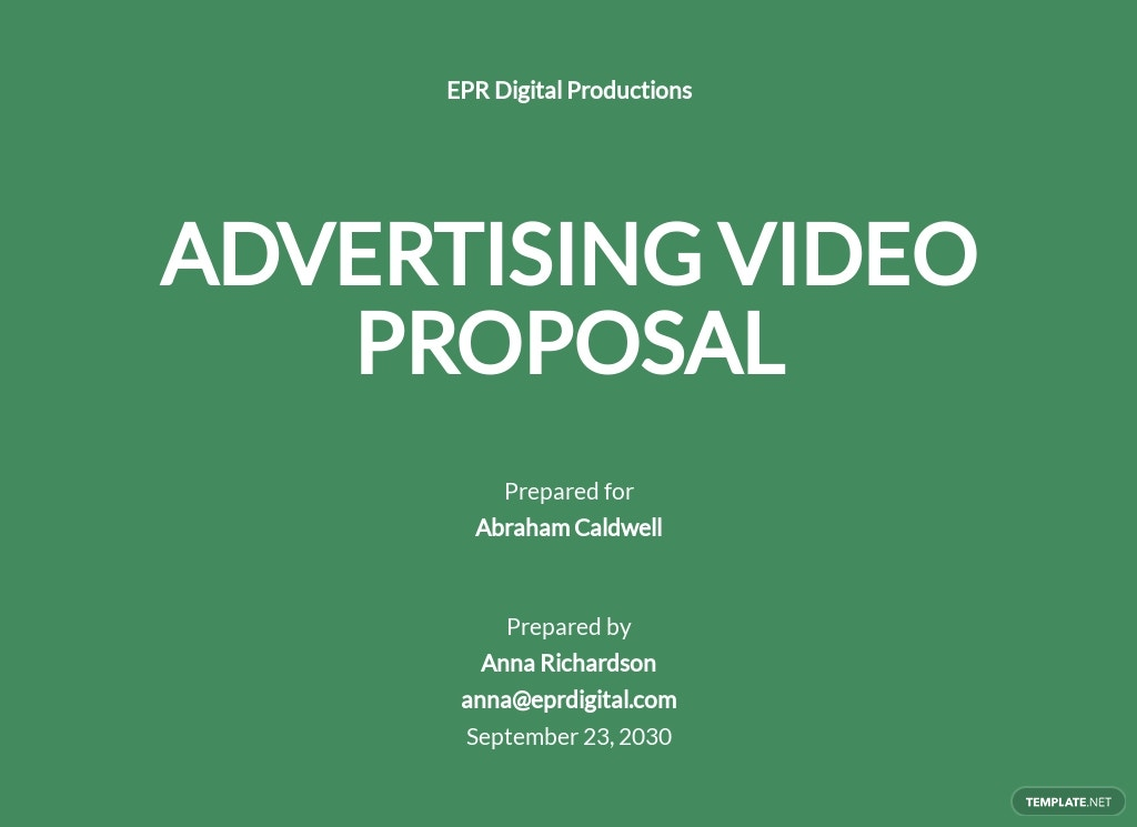 Advertising Agency Proposal to Client Template