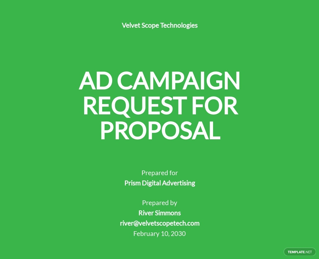 Advertising Agency Request for Proposal Template