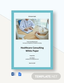 Healthcare Consulting White Paper Template