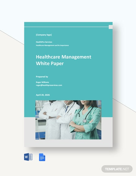 Healthcare Management White Paper Template
