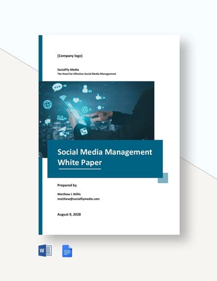 Social Media Management White Paper Template