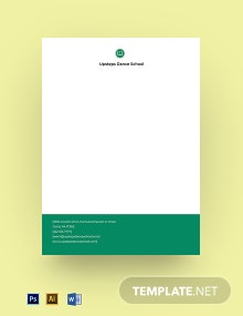 Dance School Letterhead Template