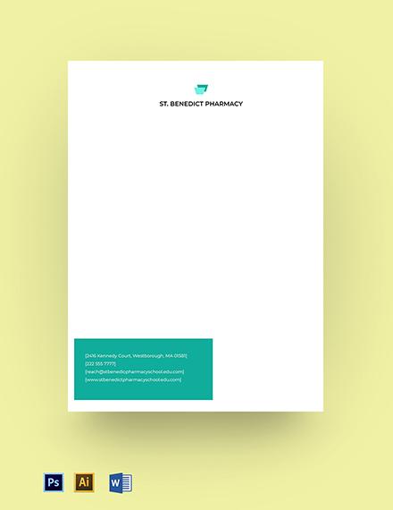 Pharmacy School Letterhead Template