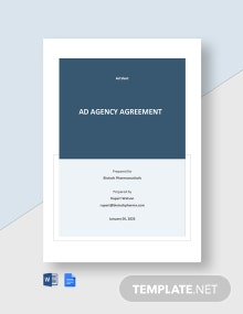 Free Ad Agency Agreement Template