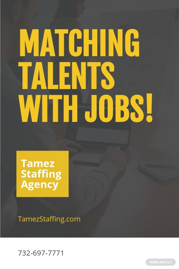 Free Staffing Agency Pinterest Pin Template