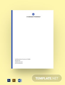 Private School Letterhead Template