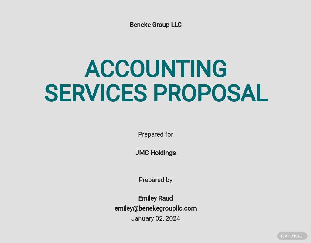 Sample Accounting Proposal Template