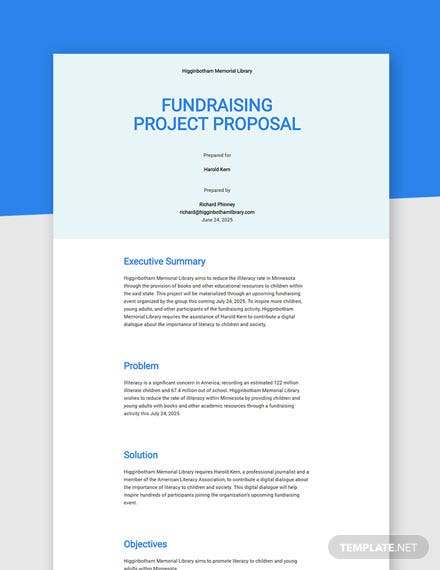 Editable Non Profit Project Proposal