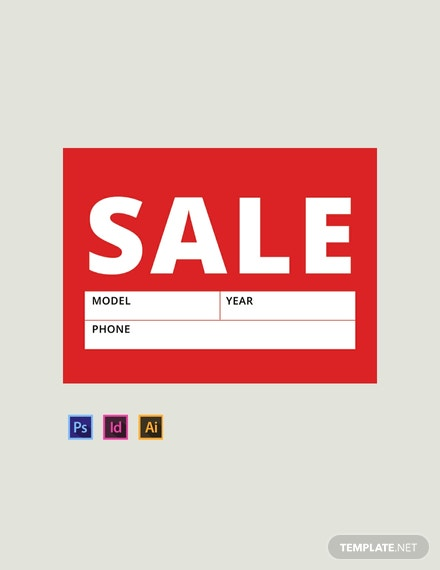 picture relating to Free Printable Sale Signs for Retail identified as 14+ No cost Indicator Templates - PSD InDesign Illustrator