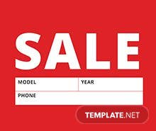 sale sign templates