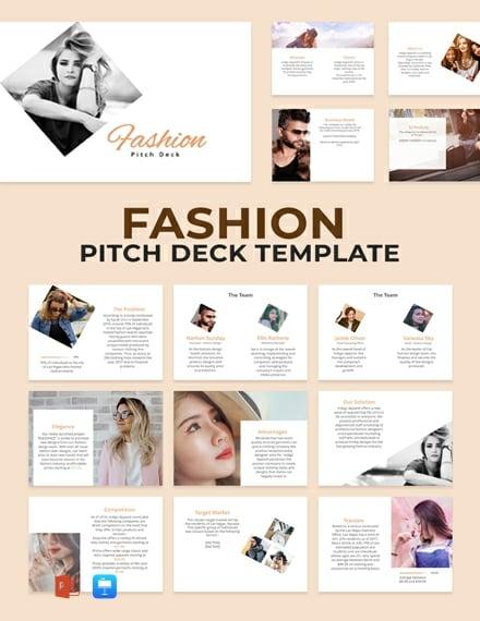 Fashion Pitch Deck Template