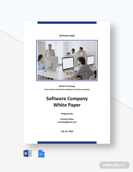 Software Company White Paper Template