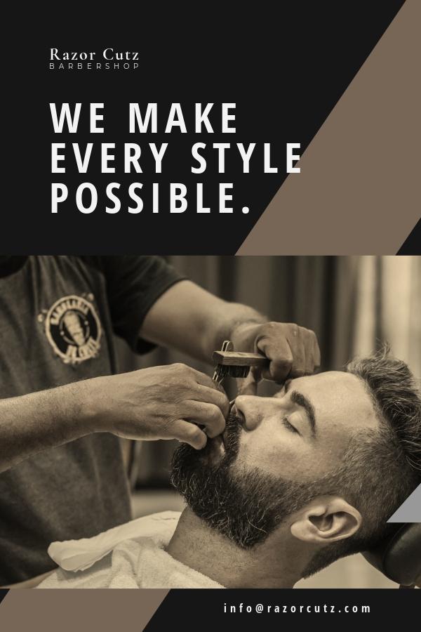 Barbershop Pinterest Pin Template