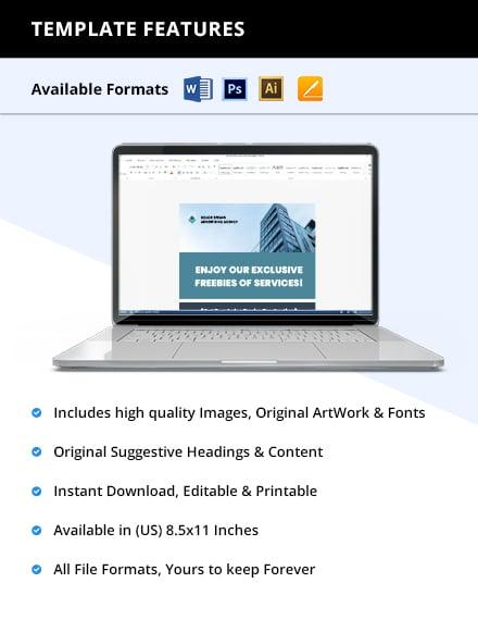 Free sample advertising agency flyer format
