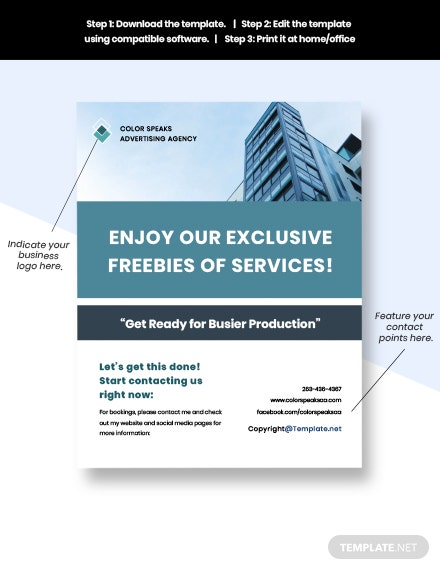 Free sample advertising agency flyer sample