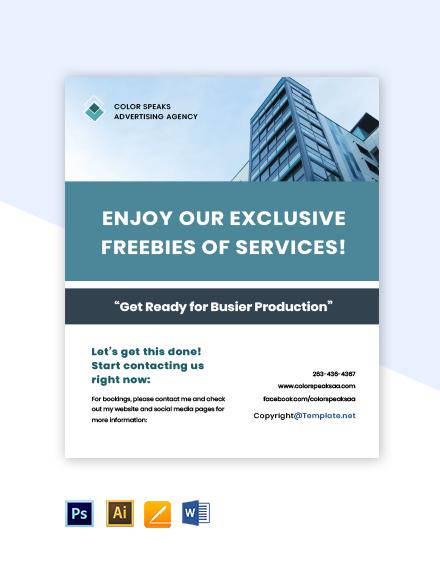 Free sample advertising agency flyer