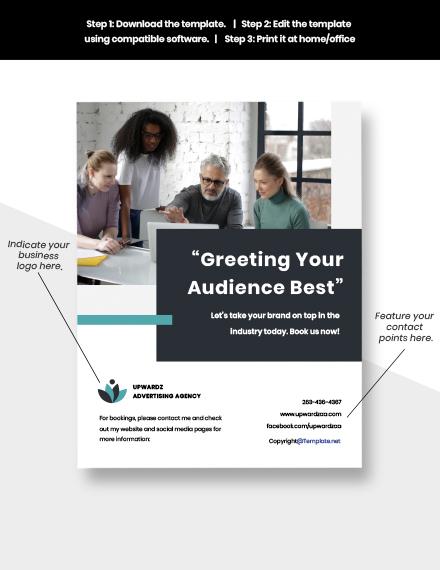 Free simple advertising agency flyer sample