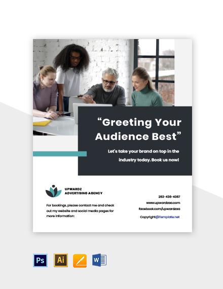 Free simple advertising agency flyer