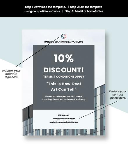 Creative advertising agency flyer sample