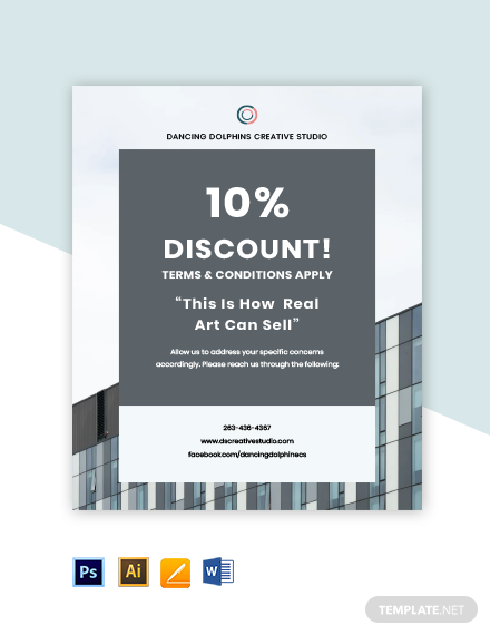 Creative advertising agency flyer