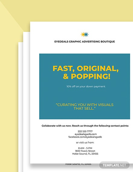 Advertising agency graphic design flyer Printable