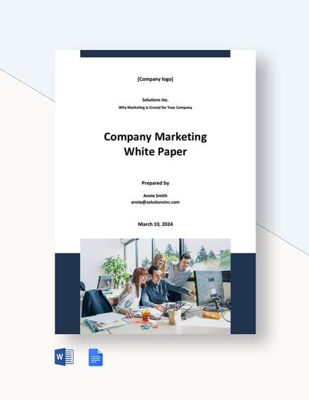 Company Marketing White Paper Template