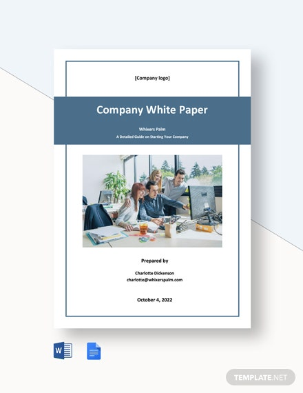 Free Sample Company White Paper Template