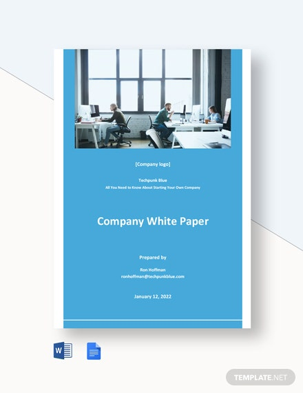 Free Simple Company White Paper Template