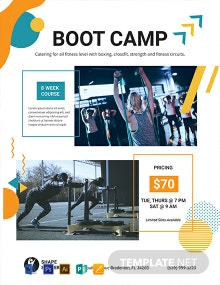 Free Fitness Boot Camp Flyer Template