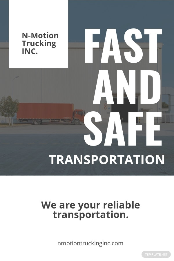 Free Trucking & Logistics Pinterest Pin Template