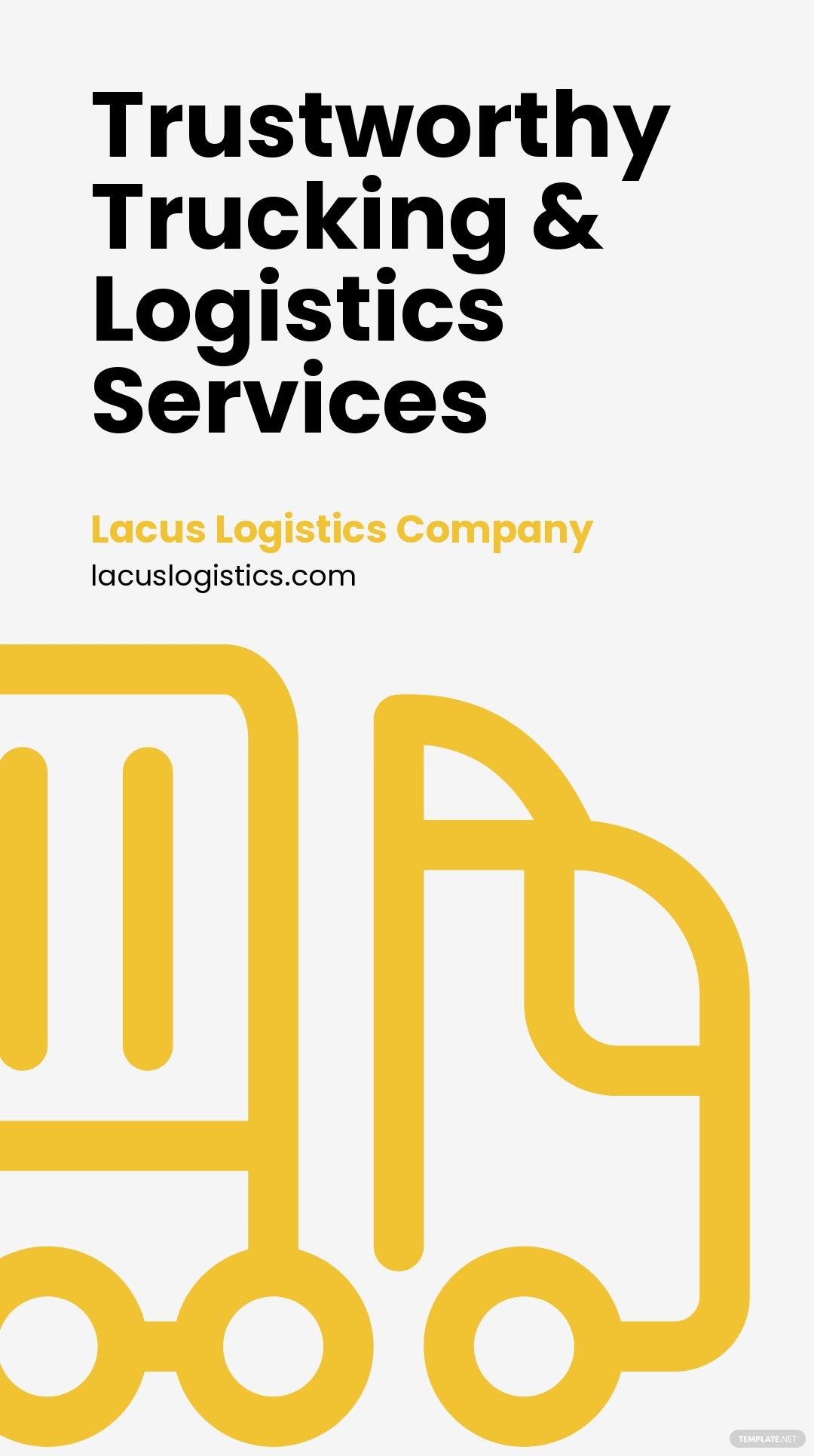 Free Trucking & Logistics Whatsapp Post Template.jpe