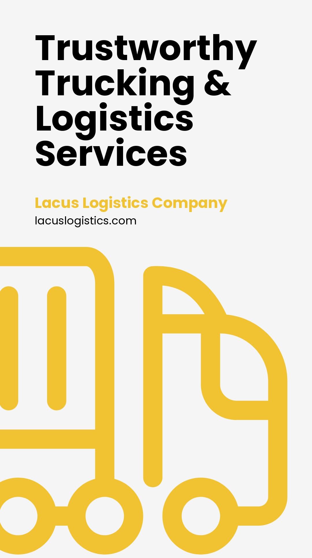 Free Trucking & Logistics Whatsapp Post Template