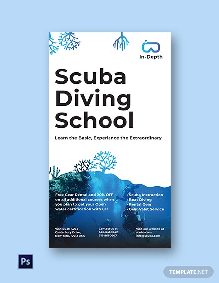Free Scuba Diving School Instagram Story Template