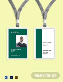 Advertising agency employee ID card Template