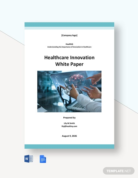 Healthcare Innovation White Paper Template