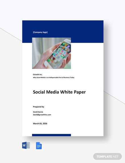 Free Simple Social Media White Paper Template