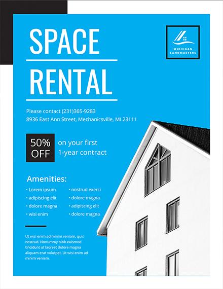 Free Rental Flyer Template