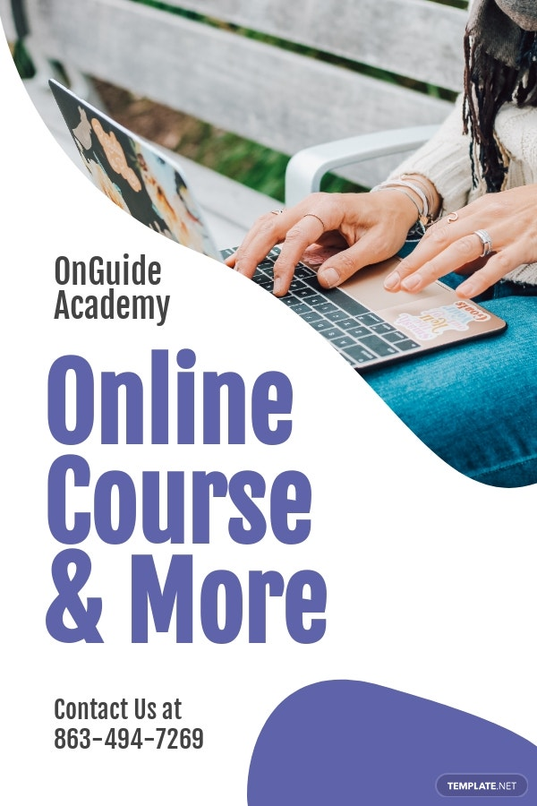 Online Courses Pinterest Pin Template