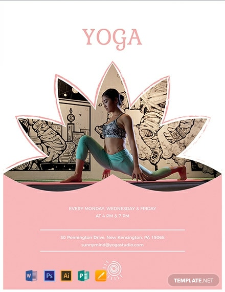 Free Yoga Class Flyer Template Word Doc Psd Apple Mac Pages Publisher Illustrator Template Net