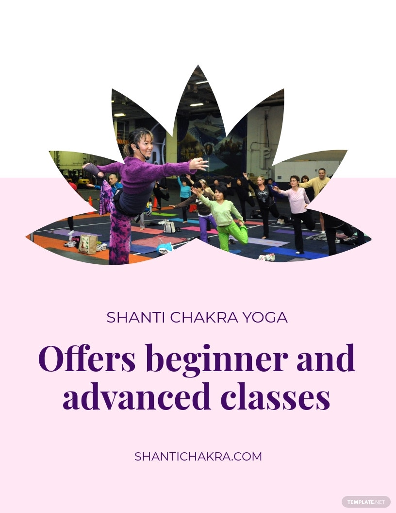 Yoga Class Flyer Template [Free JPG] - Illustrator, Word, Apple Pages, PSD, Publisher