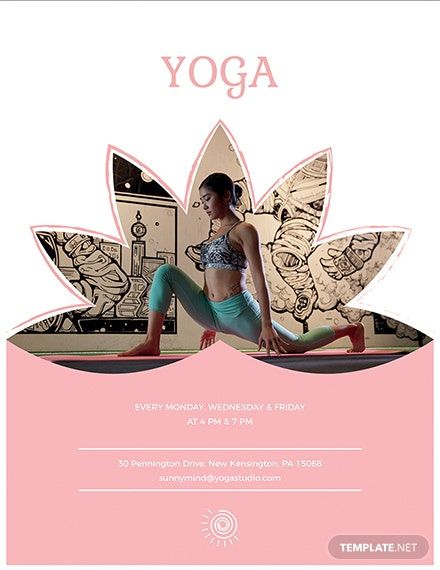 yoga flyer template 1x