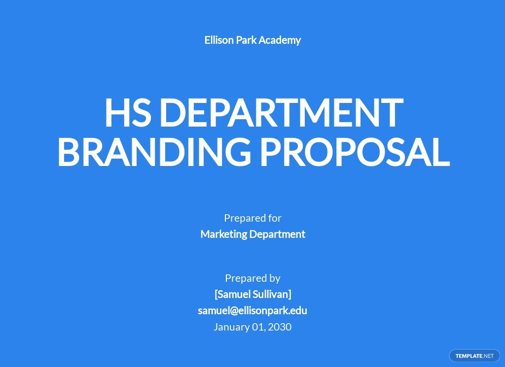 New School Branding Proposal Template